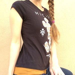 Disney Shirts & Tops - N E F F Neff Disney Floral Mickey Mouse Tee